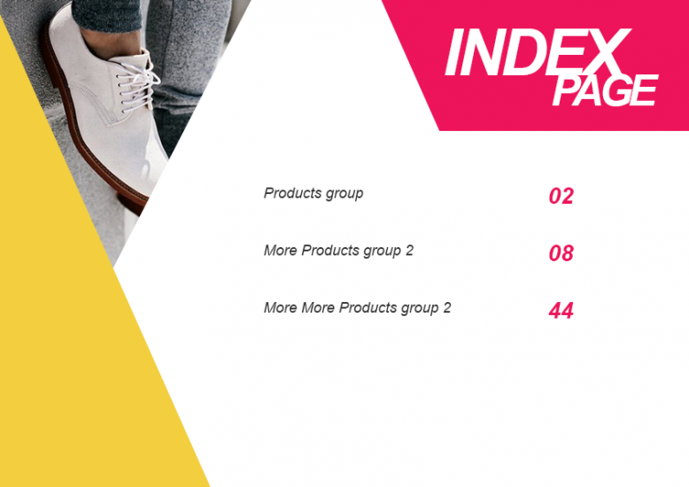 3.2. Shoes LookBook Free Template - Index