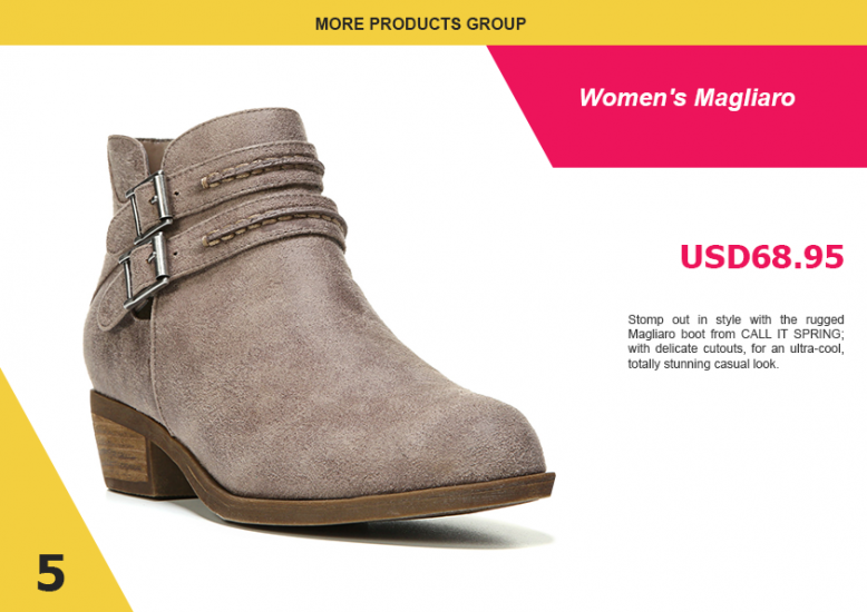 3.3. Shoes LookBook Free Template - Product 1