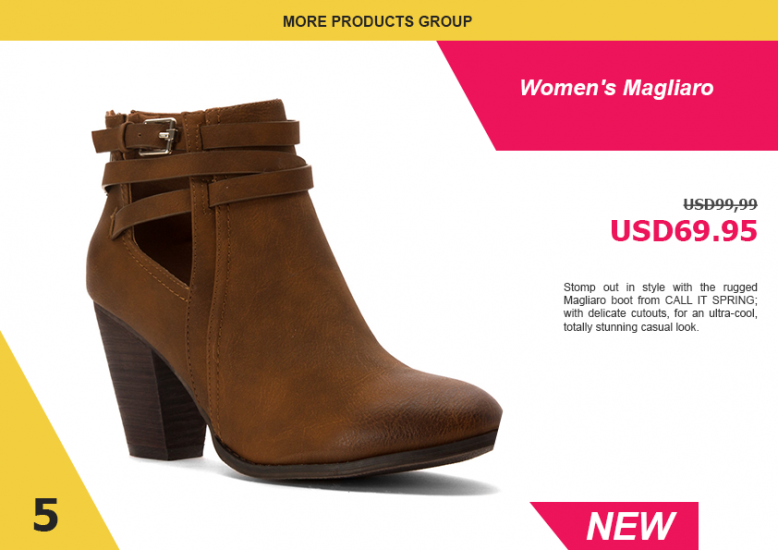 3.4. Shoes LookBook Free Template - Product 2