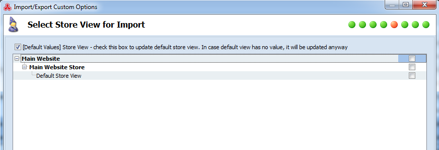 magento import in store view