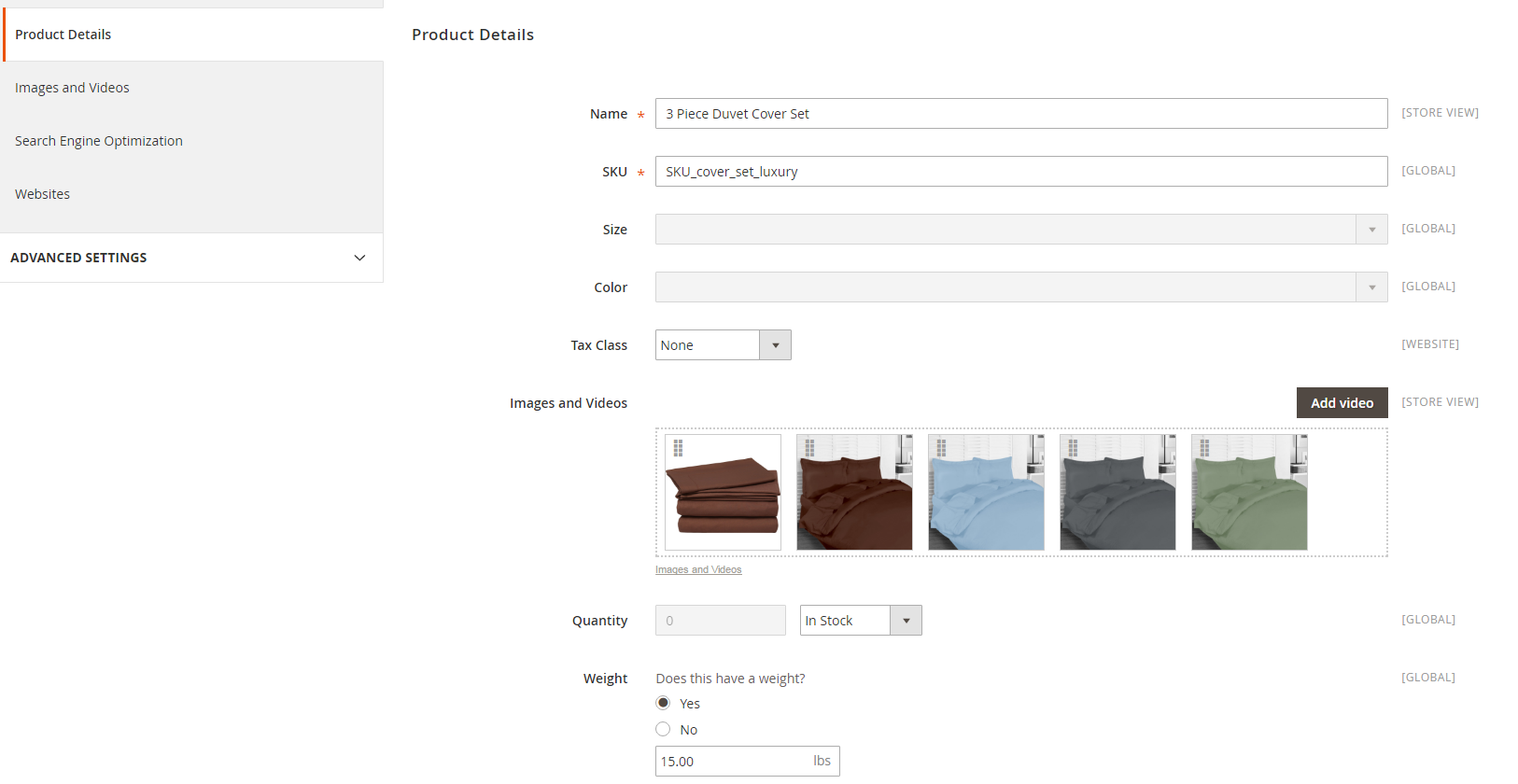 magento 2 adding configurable product