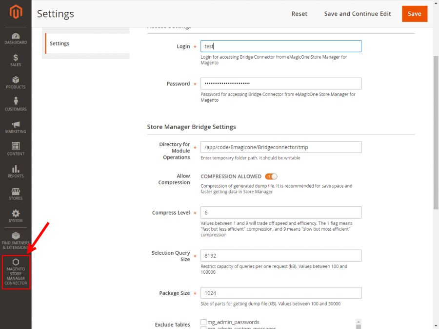 magento store manager connector