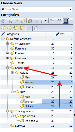 Change Display Sort Order of Magento Categories