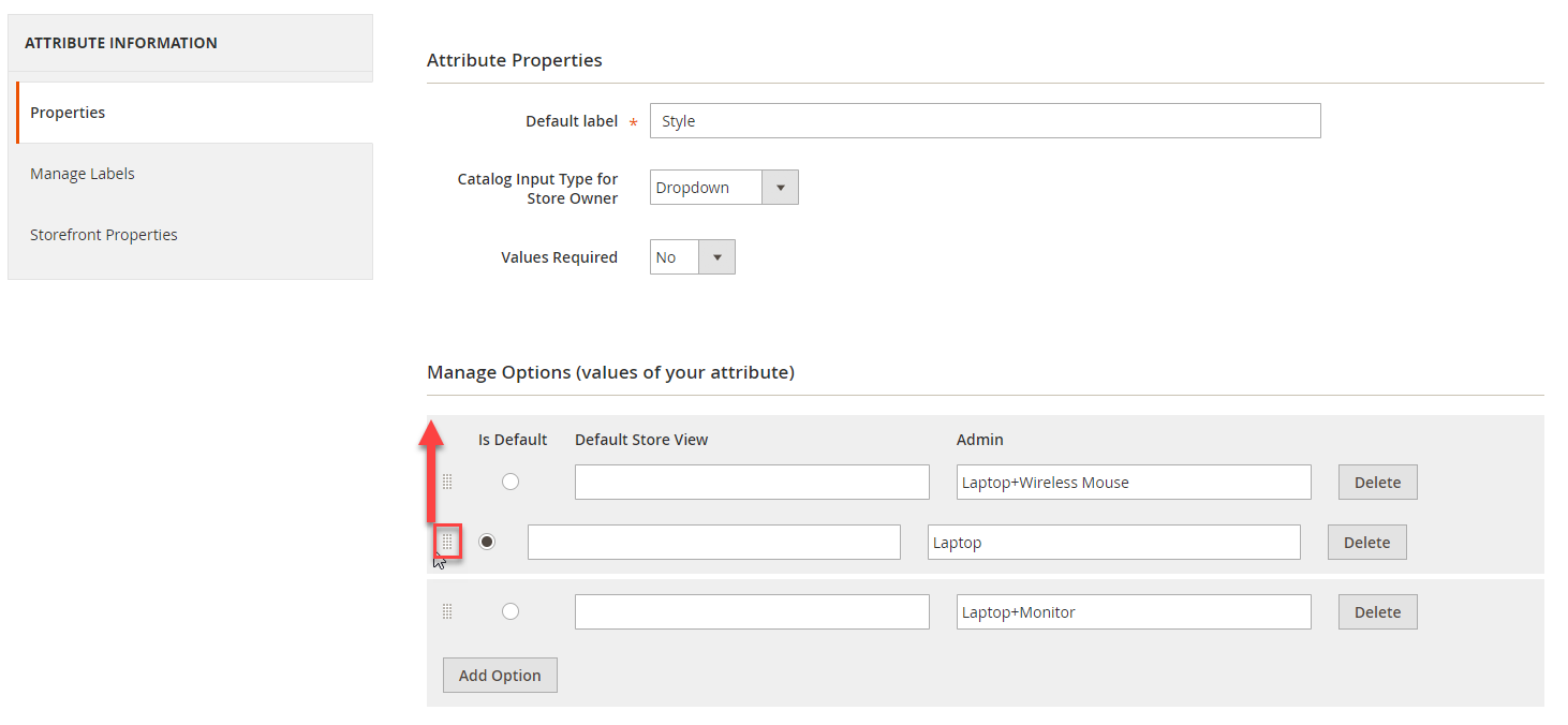 Change Sort Order of Attribute Dropdowns and Options in Magento 2