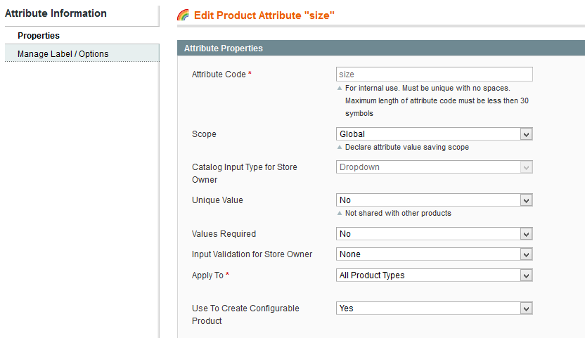 Configurable products
