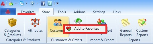Magento add to favorites