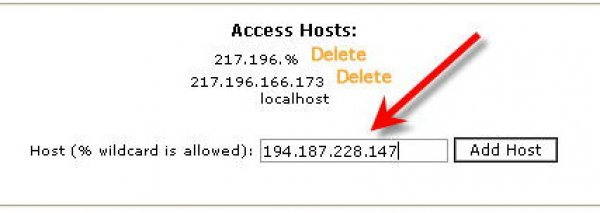 How to add my IP address to Access List and allow direct MySQL connections?