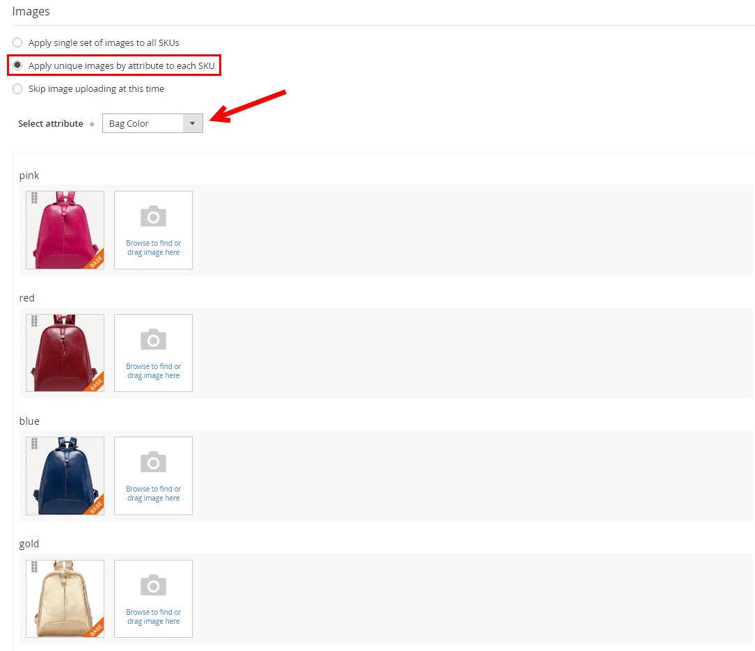 magento 2 configurable product images