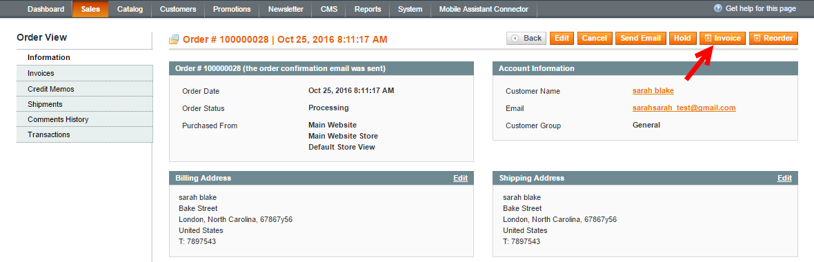 Create Magento Invoice For Order  How To Generate An Invoice