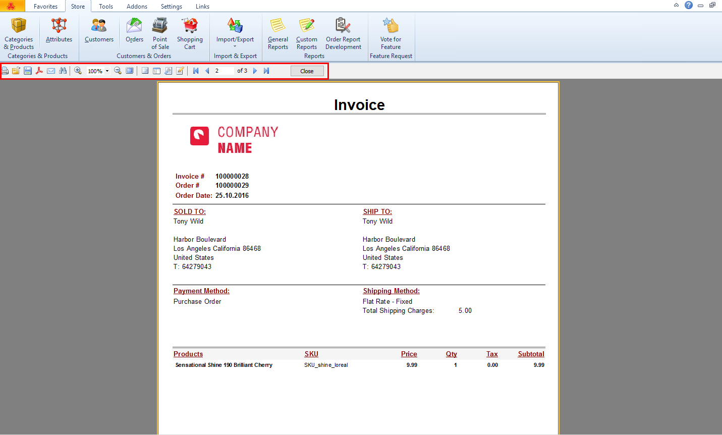 magento invoice preview