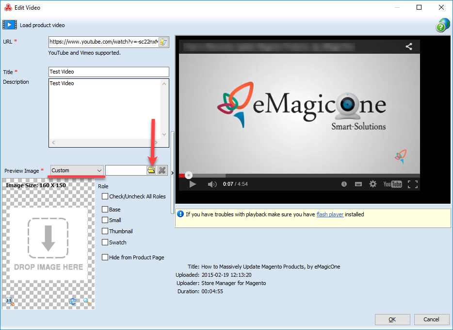 image preview for magento 2 video