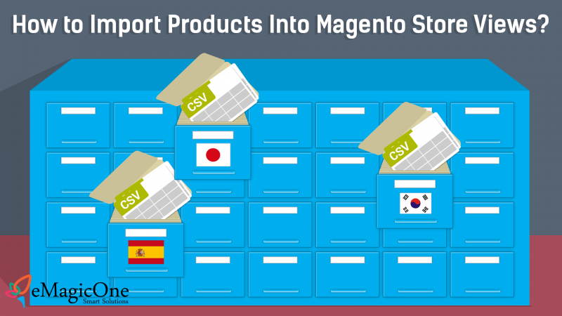 Magento Import Products in Store Views