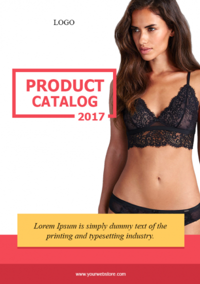 0.1. Lingerie LookBook Free Template - Cover