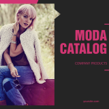 4.1. Moda LookBook Free Template - Cover