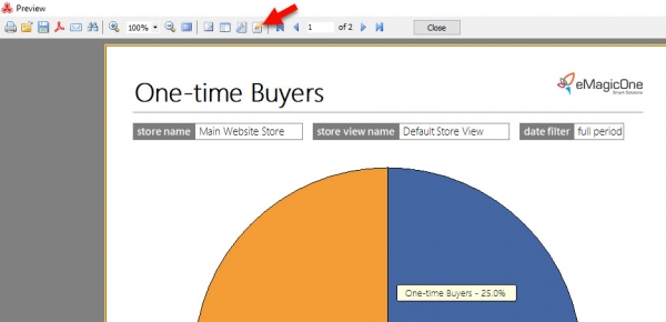 Magento 2 One-Time Buyers Report Edit Page