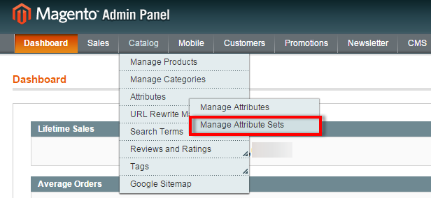 manage attribute sets