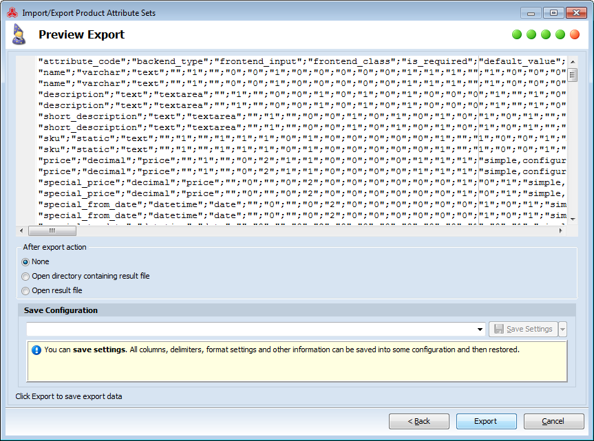 Magento - Export Product Attribute Sets