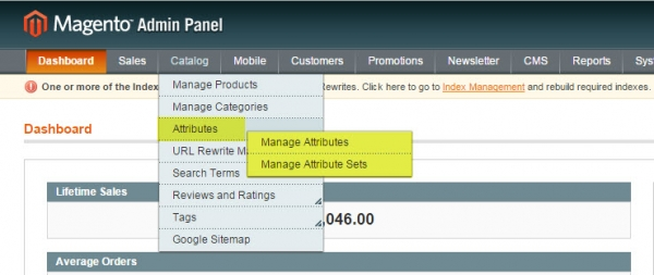 magento admin attribute management