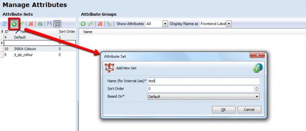 magento add attribute set