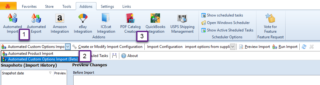 Magento Automated Custom Options Import