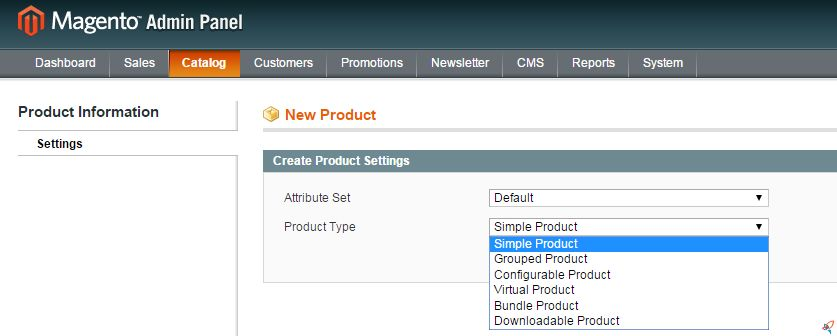 magento change product type