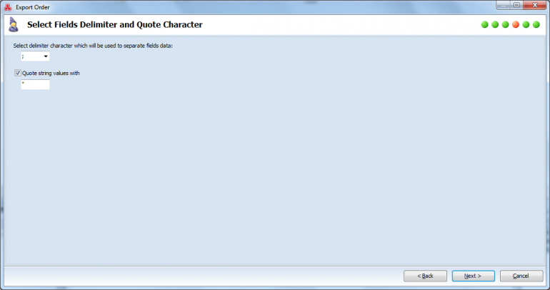select delimiter and quote character
