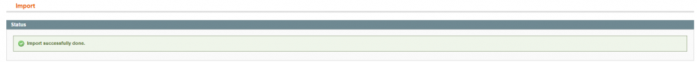 magento import successfully done