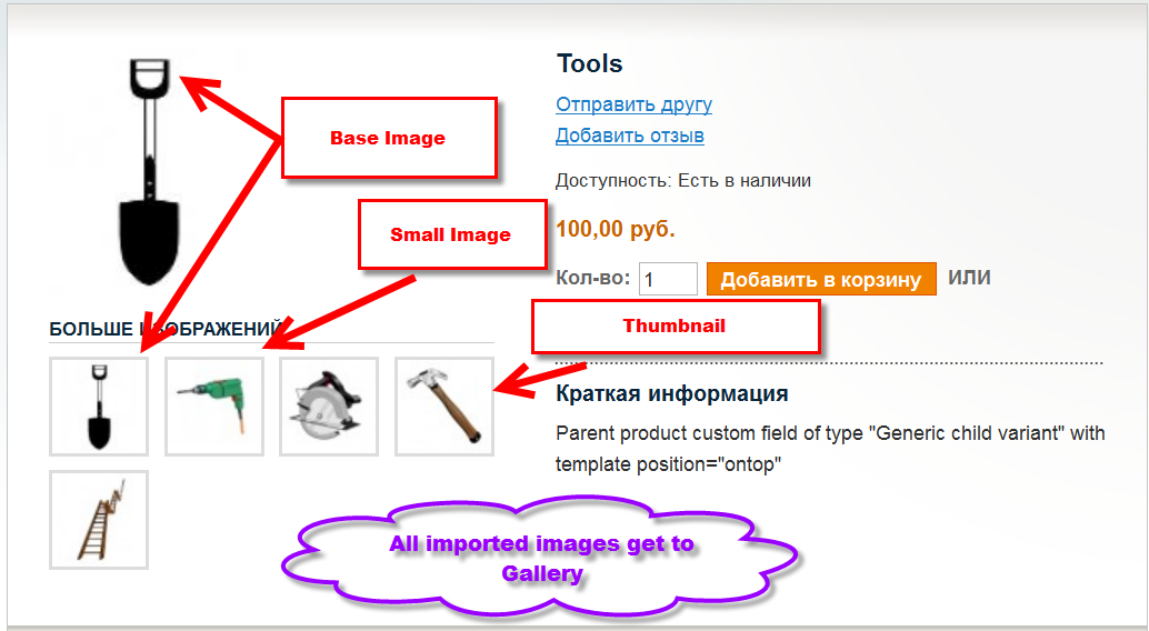 Magento import images to Gallery