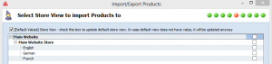 magento import multiple stores