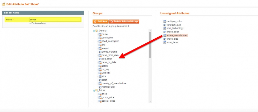 add manufacturer to magento attribute set via admin