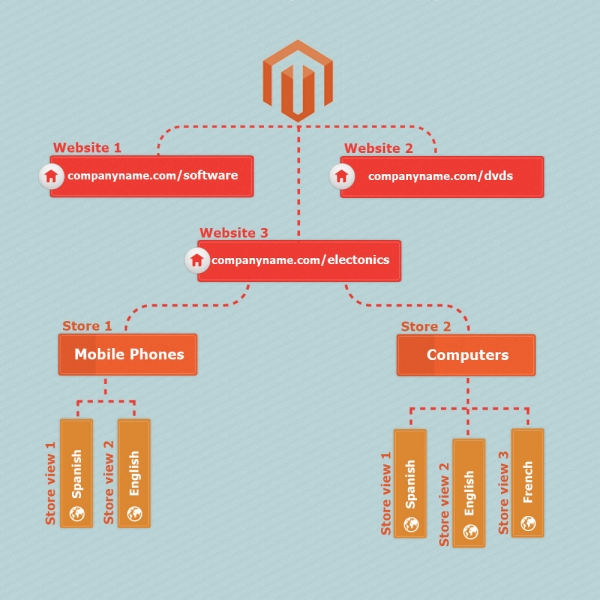 magento website/store/store view