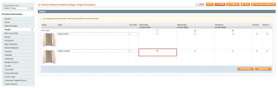 assign magento swatches to associated simple