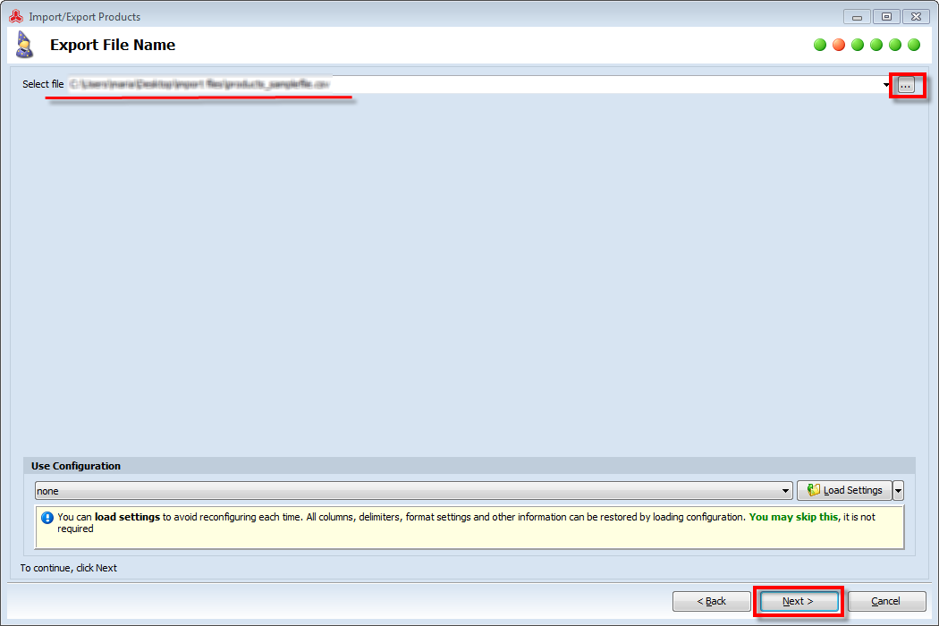 magento export products csv
