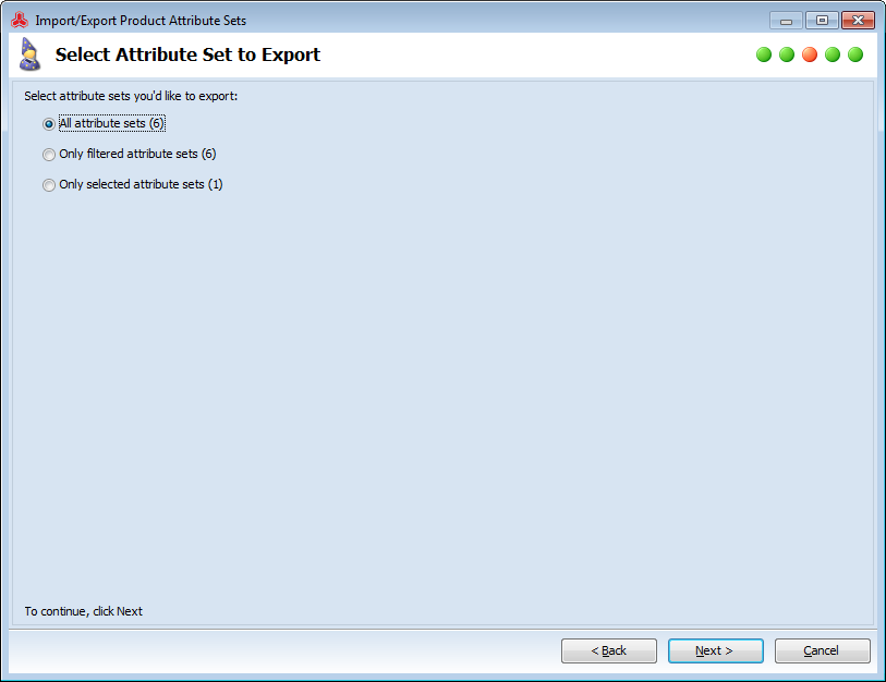 magento export attribute sets with attributes