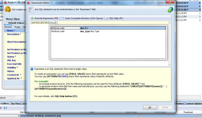 You can use SKU attribute while creating SQL expressions in Multi Editor