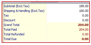 Magento Order Total calculate