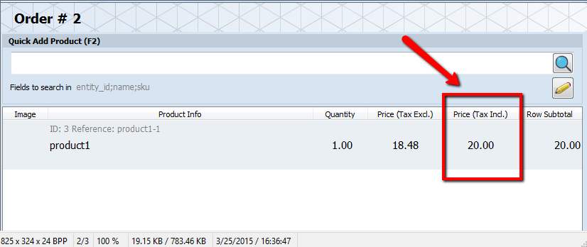 magento tax in pos