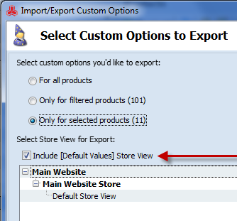 The ability to select default view - Store Manager for Magento
