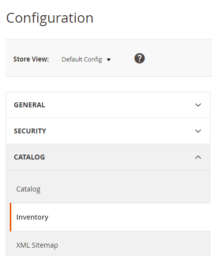 Inventory Settings
