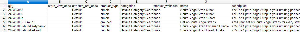 Download Product Import CSV Sample