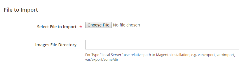 Select CSV Import File