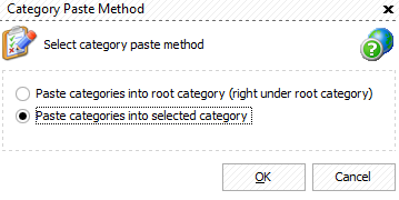Paste Magento 2 category options