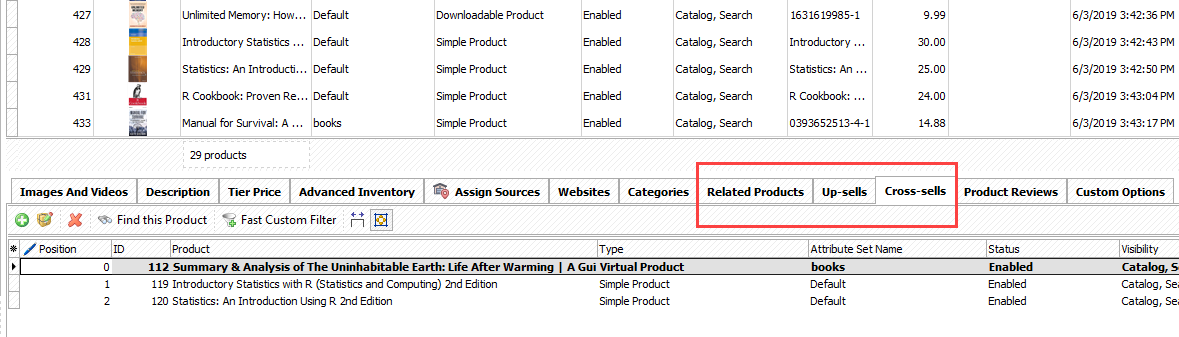 Check whether Magento 2 related products were correctly added