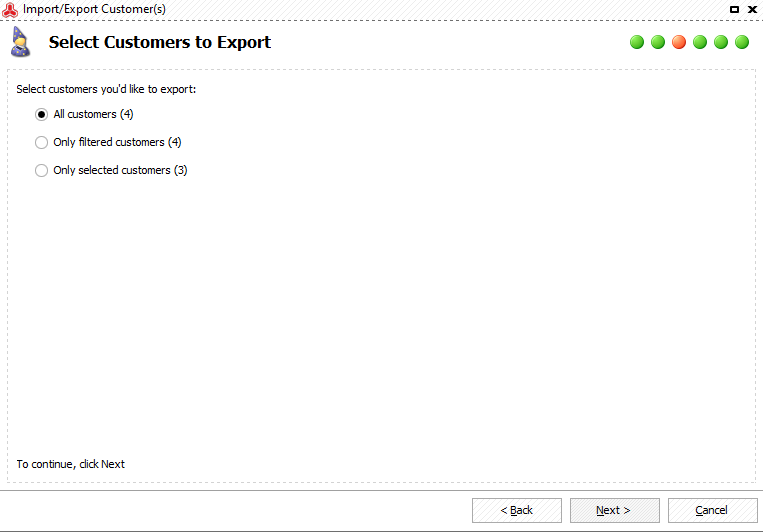 Select what Magento 2 customers to export