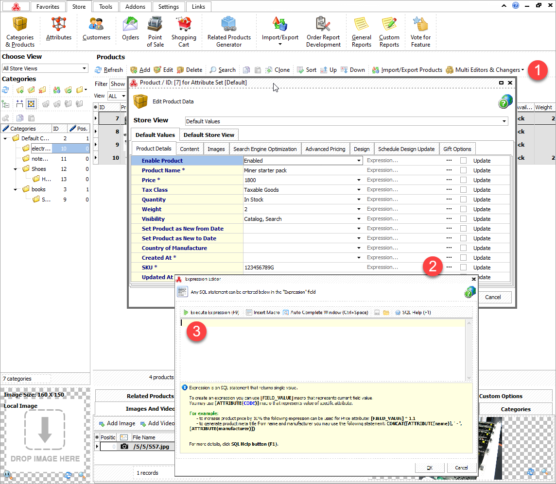 Multi Editor to Update Product SKUs Massively