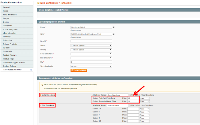 configurable product price in magento 1.9