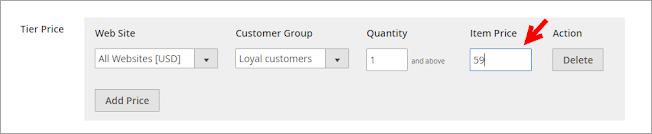 group price magento 2