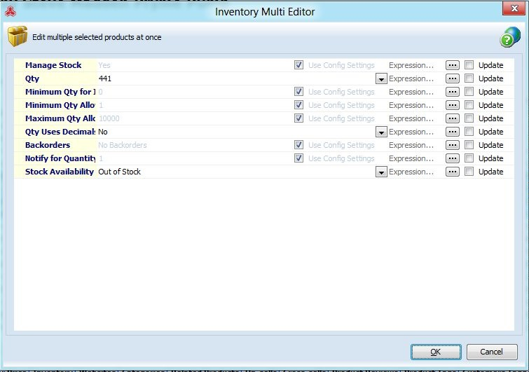 Inventory Multi Editor Window