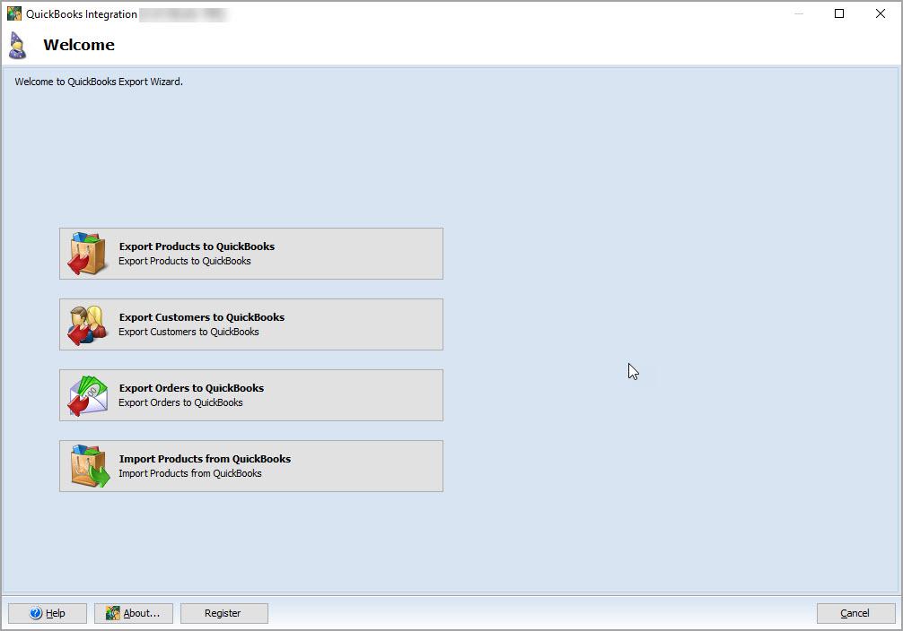 Magento QuickBooks Integration Select Action