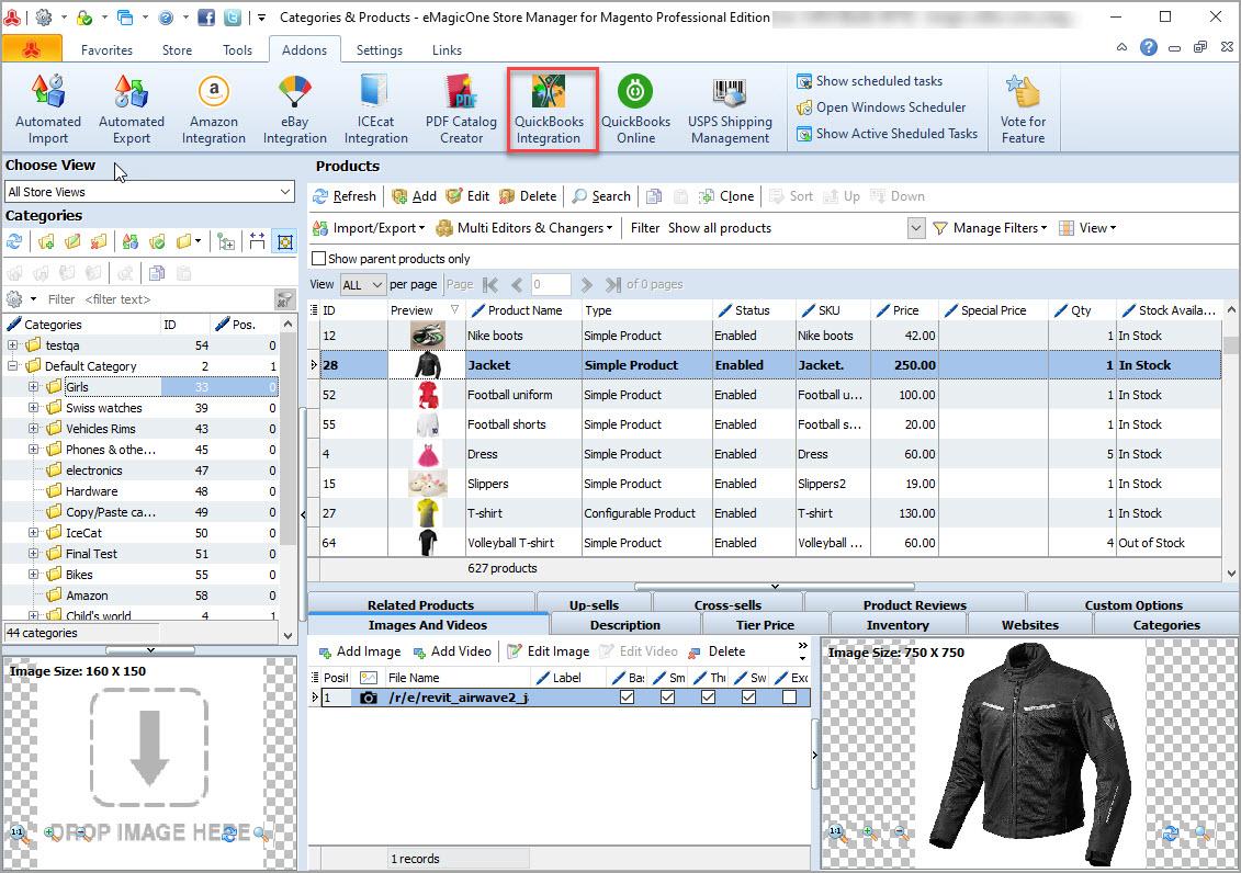 Magento Store Manager QuickBooks Integration